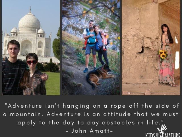 Adventure isn't hanging on a rope off the side of a mountain. Adventure is an attitude that we must apply to the day to day obstacles in life.