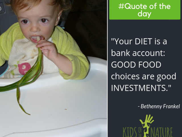 Your diet is a bank account: good food choices are good investments.
