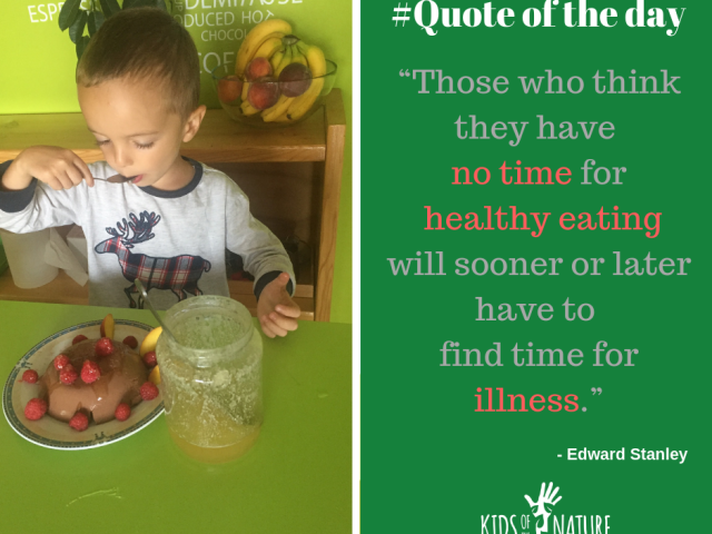 Those who think they have no time for healthy eating will sooner or later have to find time for illness.