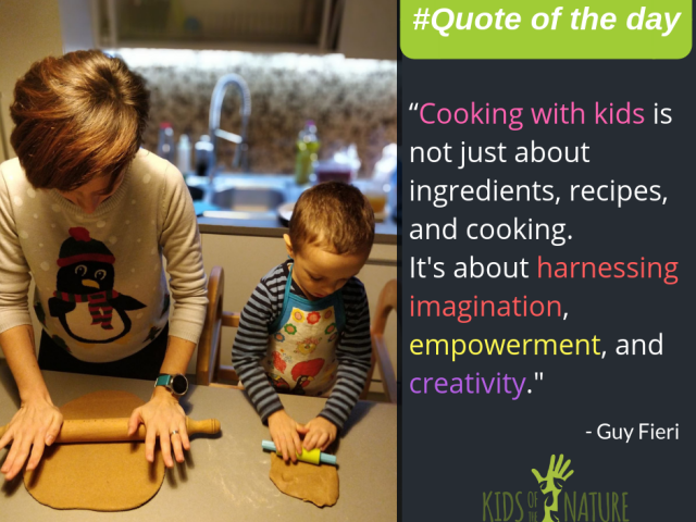 Cooking with kids is not just about ingredients, recipes and cooking. It is about harnessing imagination, empowerment, and creativity.