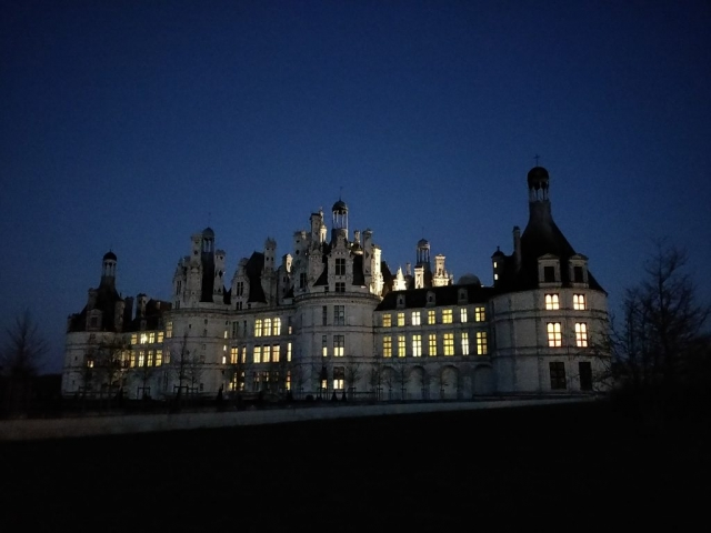 Night view back @ Chateau de Chambord, France