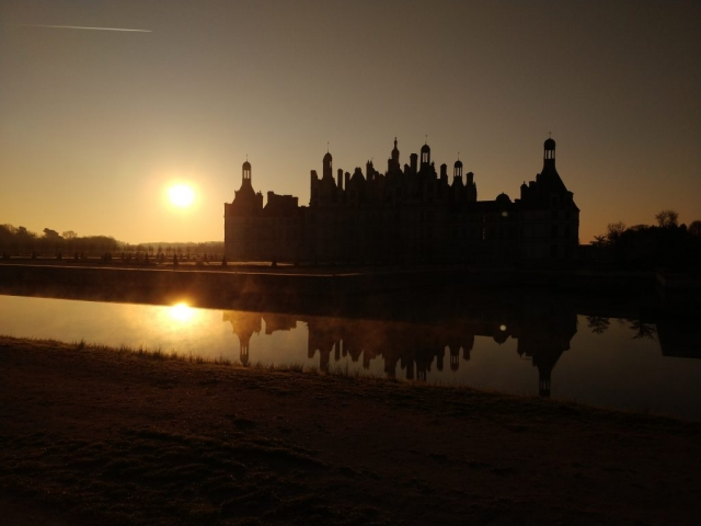 Sunrise view @ Chateau de Chambord, France