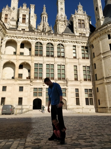 Interior courtyard @ Chateau de Chambord, France