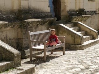 Reading the brochure @ Chateau de Chambord, France
