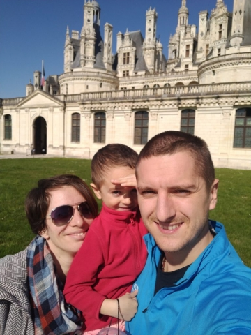 Family selfie @ Chateau de Chambord, France