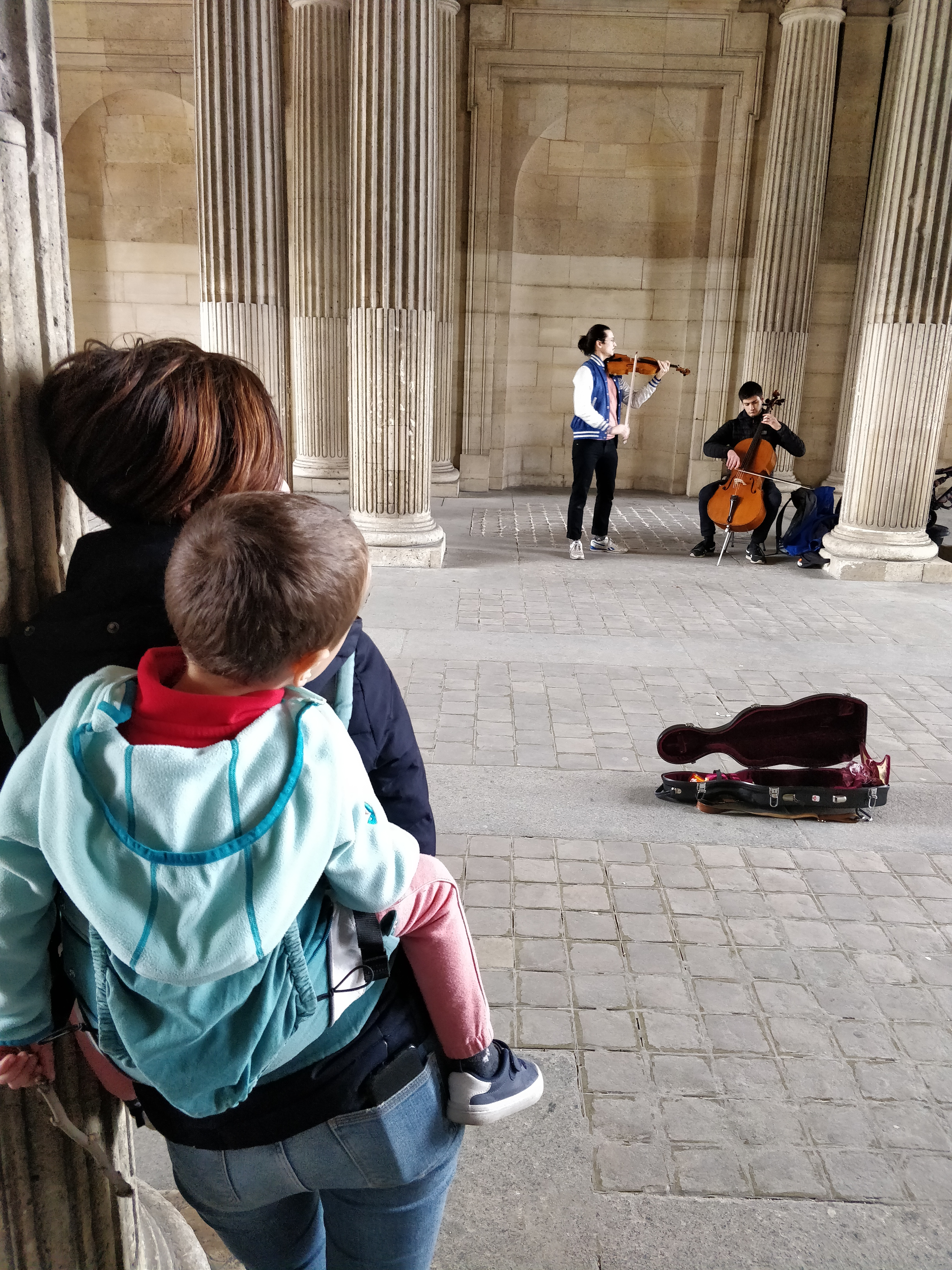 Enjoying street music, Paris, France