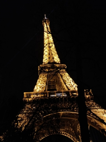 Eiffel Tower - night view, Paris, France